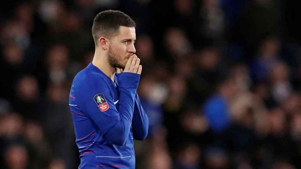 Eden Hazard, durante un partido del Chelsea