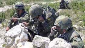 Militares en unas maniobras, en una imagen de archivo.