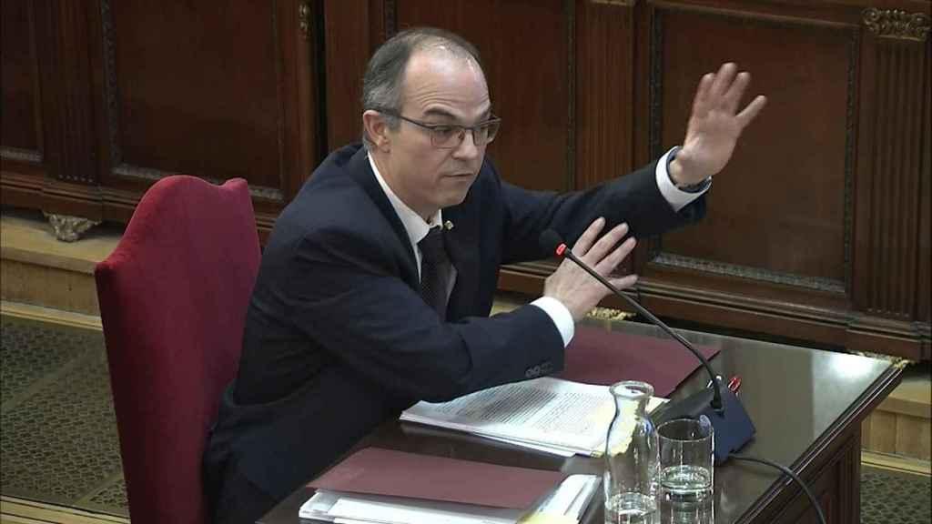 Jordi Turull, durante su declaración en el Tribunal Supremo.