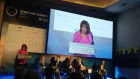 La ministra de Justicia, Dolores Delgado, en la inauguración del World Law Congress.