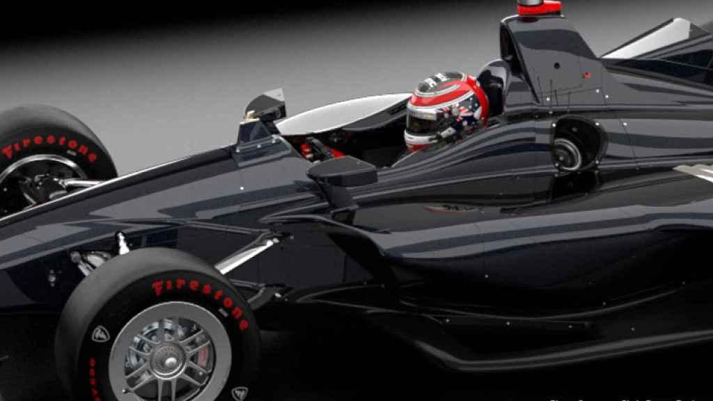 Así será el nuevo dispositivo de seguridad de Alonso en Indianápolis. Foto: indycar.com