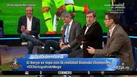 Roberto Morales en El Chiringuito. Foto: Twitter. (@elchiringuitotv)