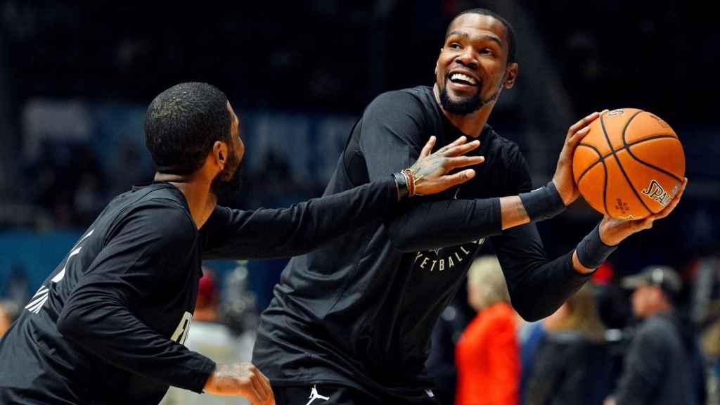 Irving y Durant durante un All Star de la NBA