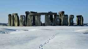 El monumento de Stonehenge, a principios de febrero.