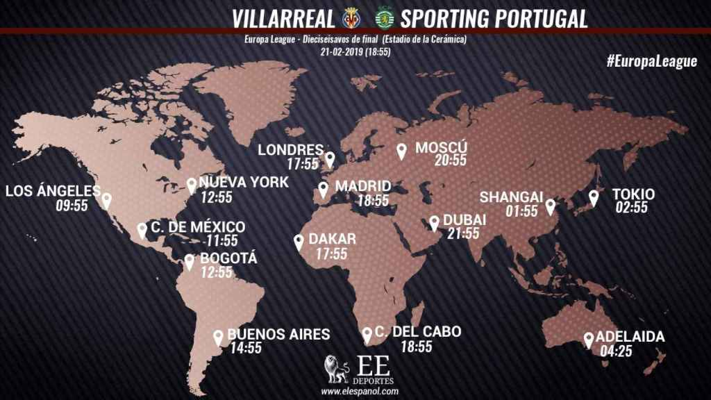 Horario internacional del Villarreal-Sporting de Portugal