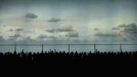 Una imagen de la valla de Idomeneo, la última ópera del Teatro Real.