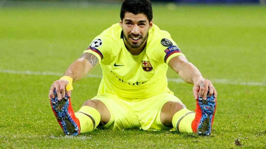 Luis Suárez, en un partido del Barcelona de la Champions League