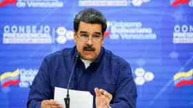 Maduro durante una reunión con ministros y miembros de su gobierno