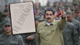 A la izquierda, documentos de la Contrainteligencia MIlitar. A la derecha, Nicolás Maduro junto a militares venezolanos.