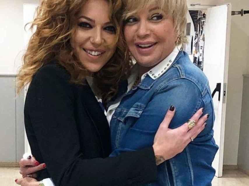 Sofía Cristo y Bárbara Rey en una imagen de las redes sociales.