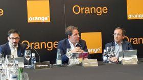 Directivos de Orange España durante la presentación de sus resultados 2018.