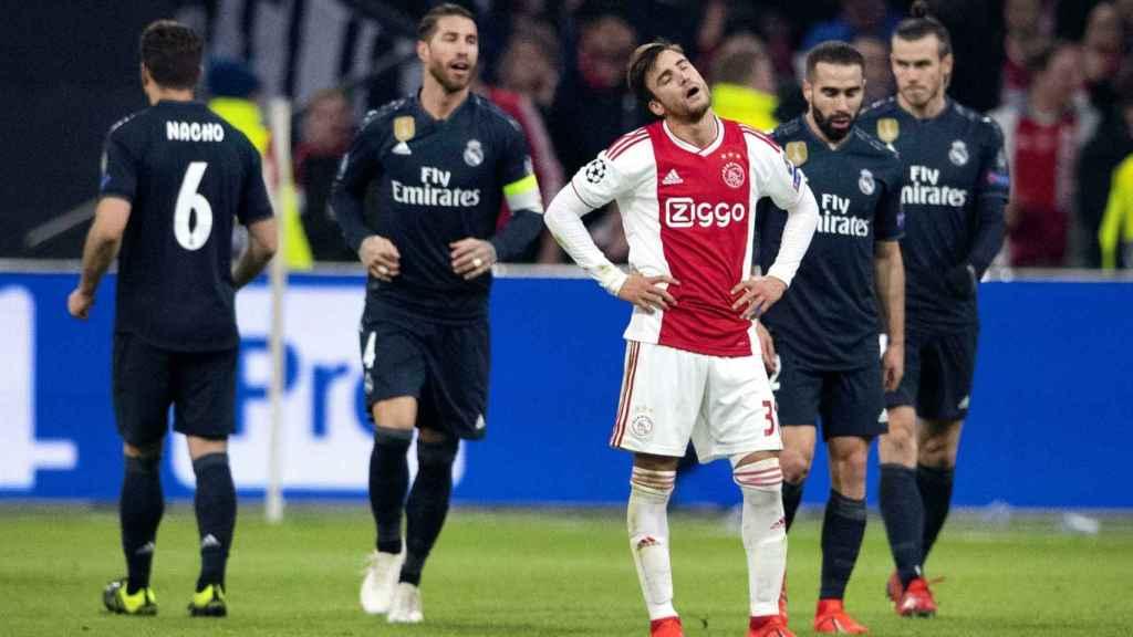 Ajax de Ámsterdam-Real Madrid, partido de ida octavos de final de Champions League.