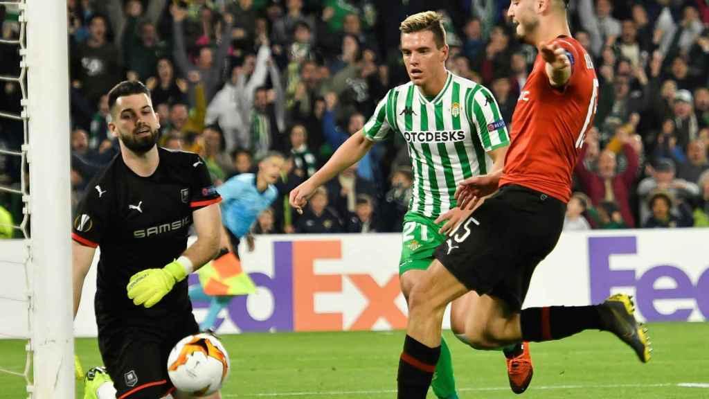 Lo Celso consigue el primer gol del Betis ante el Rennes en la Europa League