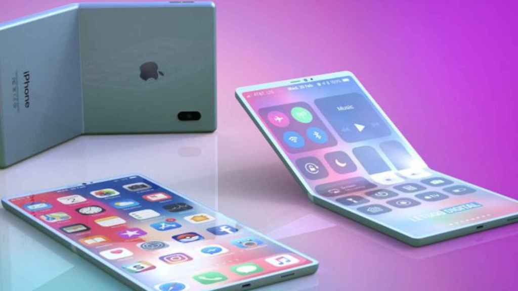 Concepto del iPhone X plegable.