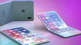 Concepto del iPhone plegable.