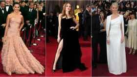 Penélope Cruz, Angelina Jolie y Gwyneth Paltrow en diferentes galas de los premios Oscar.