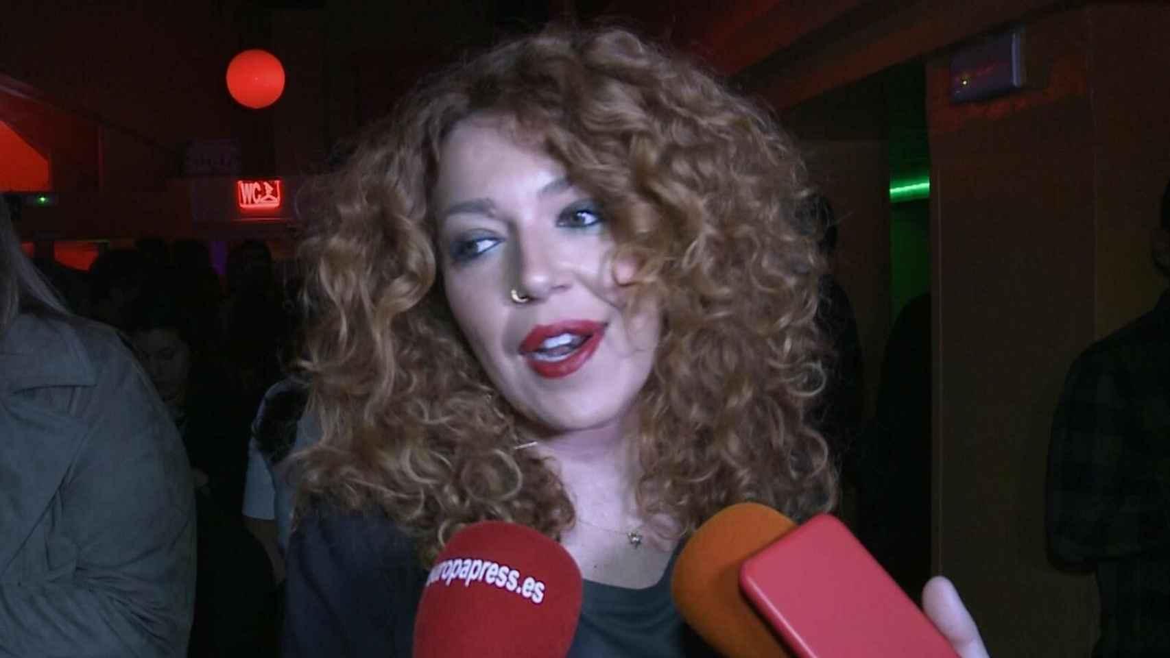 Sofía Cristo durante la gala de entrega de los premios Yago en la sala Sol de Madrid.