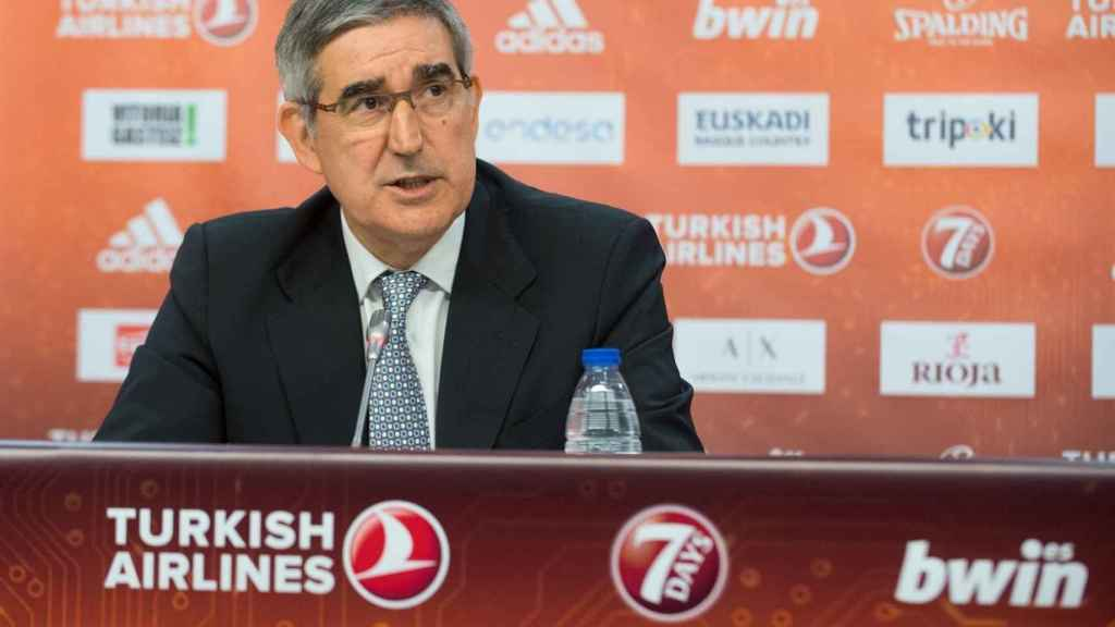 Bertomeu durante la presentación de la FInal Four de Vitoria. Foto: euroleague.net