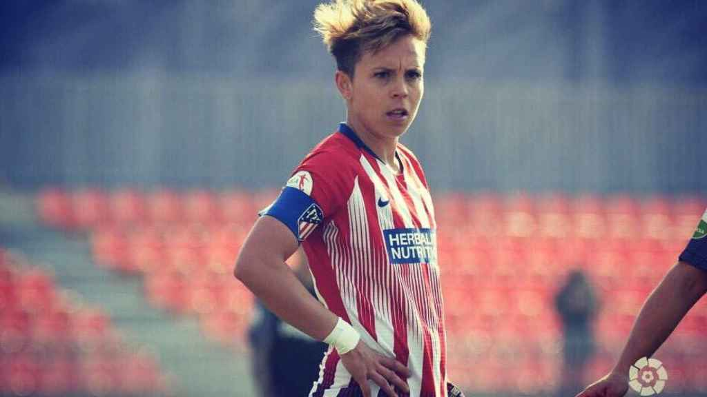 Amanda Sampedro, capitana del Atlético. Foto: Twitter (@Amanda10sb)