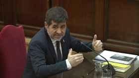 Jordi Sànchez durante su declaración en el Supremo.