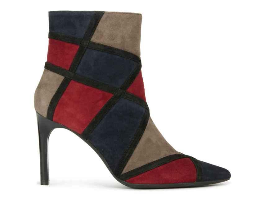 Botines tricolor -rojo, gris y azul marino- de Geox