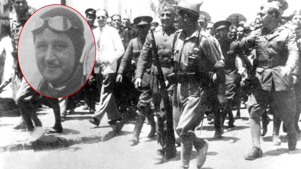 Ricardo de la Puente y Franco a su llegada a Ceuta en las primeras horas de la guerra.
