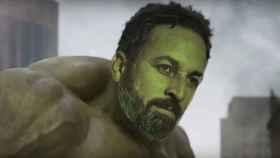 Abascal caracterizado como Hulk.