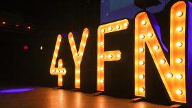 Logo del 4YFN en la fiesta de cierre de la edición anterior.