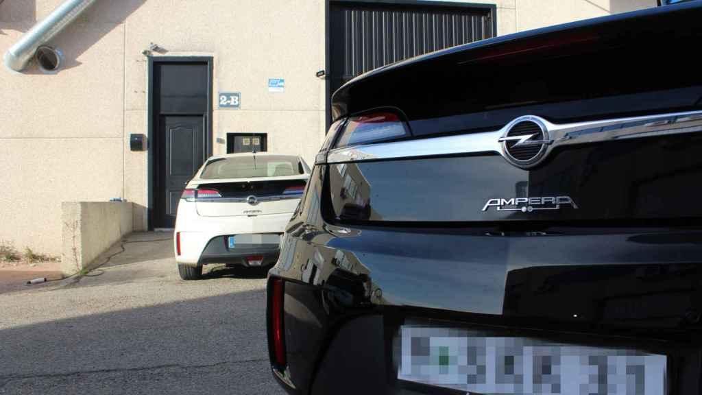 Trasera de varios Opel Ampera