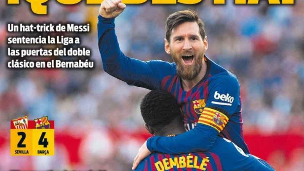 Portada del diario Sport (24/02/2019)