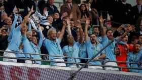 El Manchester City celebra el título de Carabao Cup