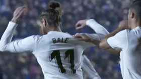 Bale no quiere celebrar su gol con Lucas Vázquez