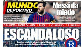La portada del diario Mundo Deportivo (25/02/2019)