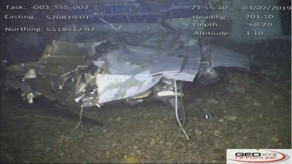 Parte del avión que transportaba a Emiliano Sala