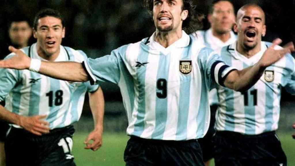Batistuta con la selección argentina