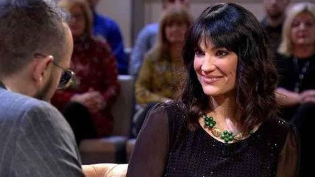 Irene Villa, durante su entrevista con Risto Mejide.