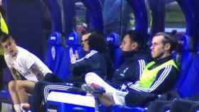 Bale, en el banquillo durante el partido ante el Levante. Foto: Golazo de Gol