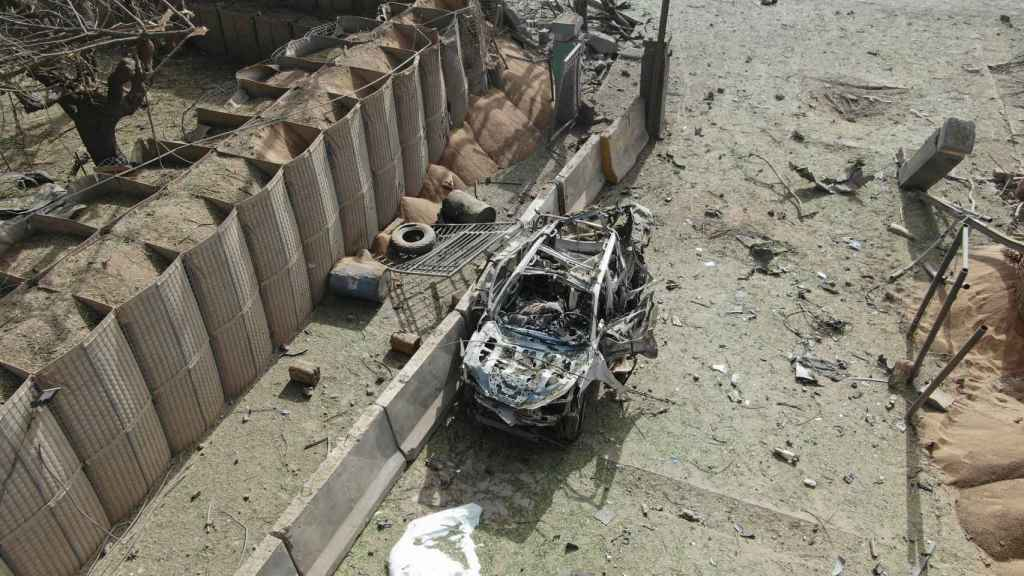 Vehículo implicado en el ataque contra la base de Koulikoro.