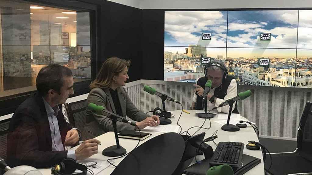 Xabier Mitxelena (izquierda), Rosa Kariger y Juan Ramón Lucas en 'Innovar para vivir'.