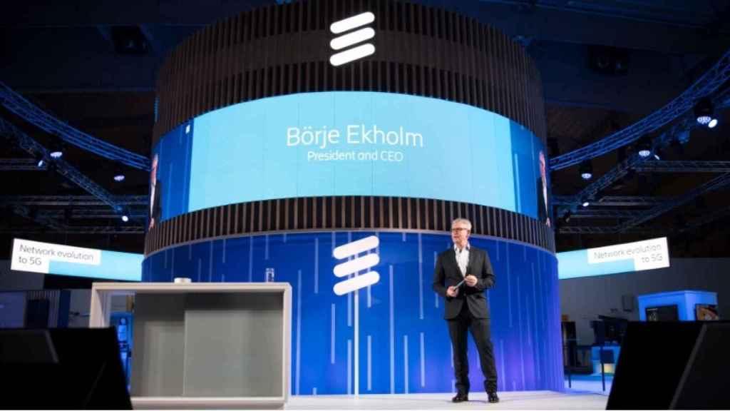 Börje Ekholm, presidente y CEO de Ericsson durante su intervención en el Mobile World Congress.