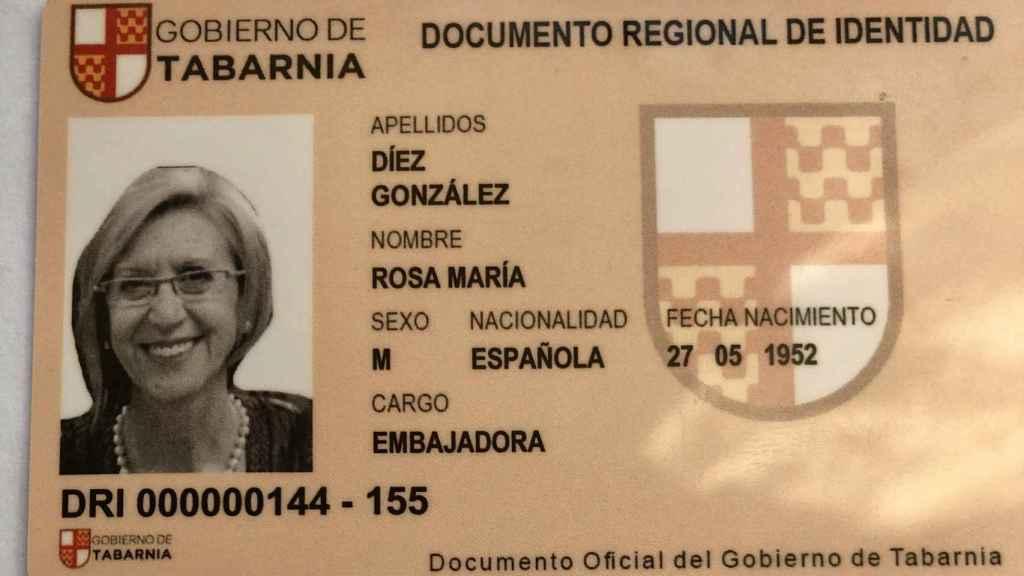 El carnet de embajadora de Tabarnia de Rosa Díez.