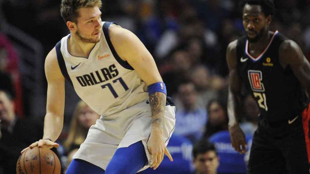 Luka Doncic contra los Los Angeles Clippers