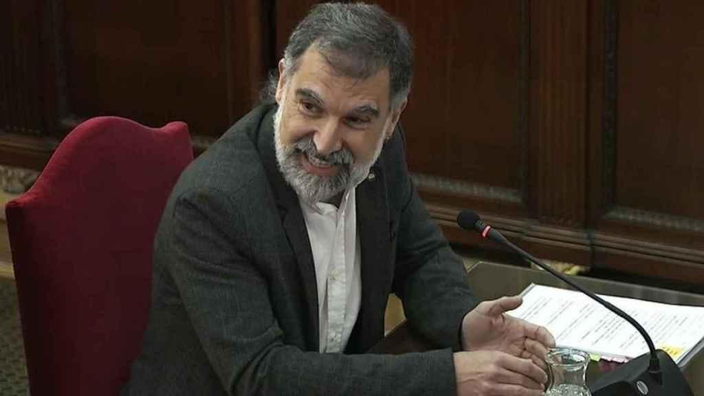 Jordi Cuixart, presidente de Òmnium Cultural, declarando como acusado en el juicio al 'procés'.