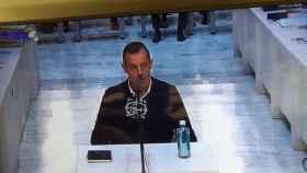 Sandro Rosell, expresidente del F.C. Barcelona durante su declaración en la Audiencia Nacional.