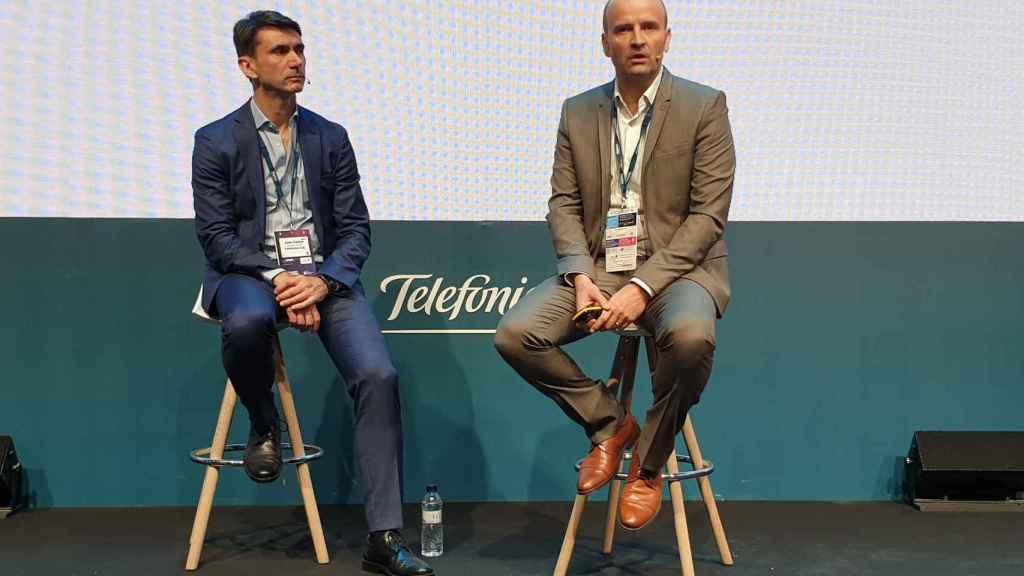 David del Val, CEO de Telefónica I+D, durante la presentación en el Mobile World Congress.