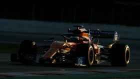 Carlos Sainz Jr. durante la pretemporada con McLaren