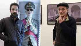 Eugenio Merino con 'Always Franco' y Santiago Sierra con 'Presos políticos'.