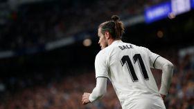 Gareth Bale, durante El Clásico en el Santiago Bernabéu
