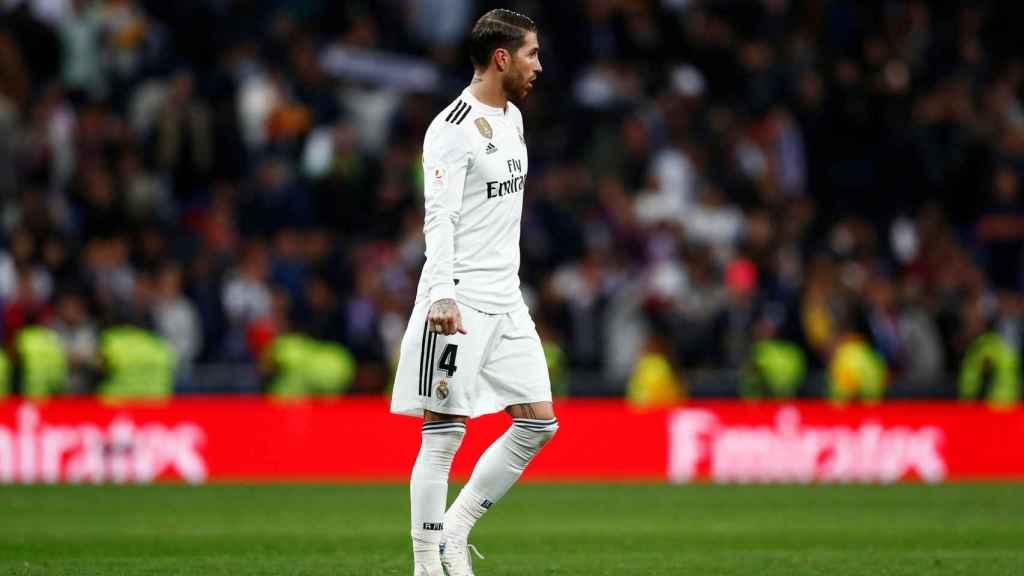 Sergio Ramos, en El Clásico del Santiago Bernabéu