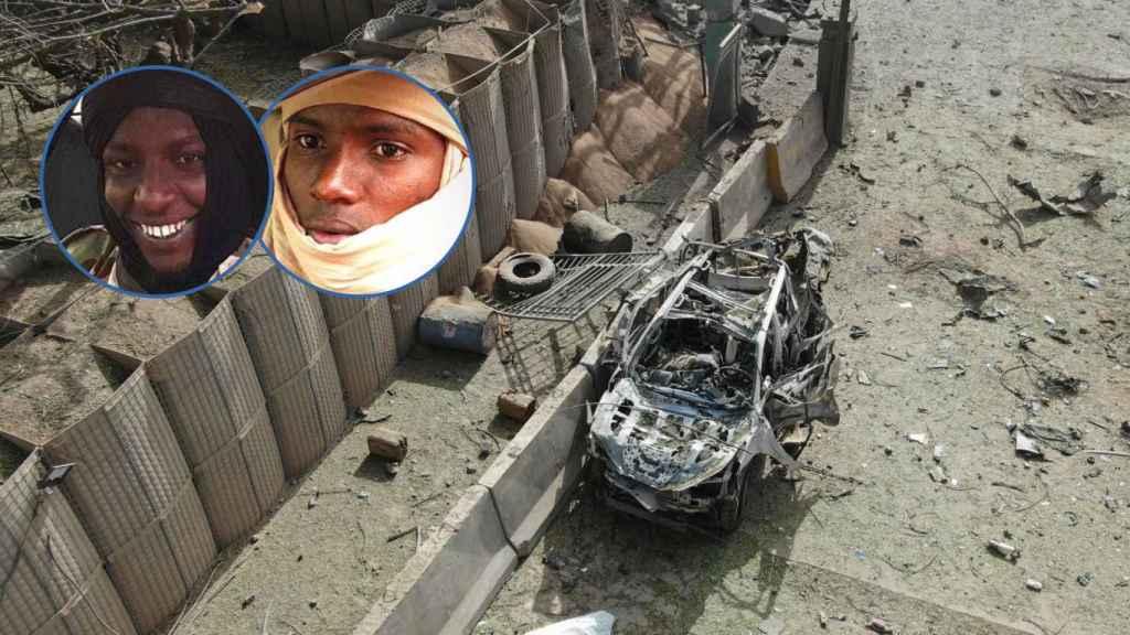 Zubair y Okasha, atacantes de Koulikoro, en imágenes difundidas por AQMI.